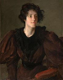 Study of a Young Woman, c.1880/85 by William Merritt Chase | Painting Reproduction