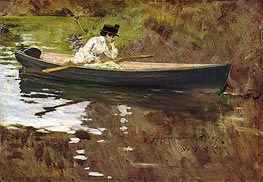 Mrs Chase in Prospect Park, 1886 by William Merritt Chase | Painting Reproduction