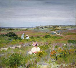 Landscape: Shinnecock, Long Island, c.1896 by William Merritt Chase | Painting Reproduction