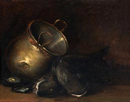 Still Life - Brass Kettle and Catfish | William Merritt Chase | veraltet