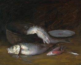 Still Life with Fish, c.1910 by William Merritt Chase | Painting Reproduction