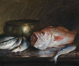Red Snapper, undated by William Merritt Chase | Painting Reproduction