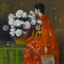 Spring Flowers (Peonies) | William Merritt Chase | Gemälde Reproduktion