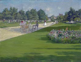 Tompkins Park, Brooklyn, 1887 von William Merritt Chase | Gemälde-Reproduktion