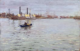 The East River, c.1886 von William Merritt Chase | Gemälde-Reproduktion
