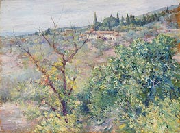 View of Fiesole | William Merritt Chase | Gemälde Reproduktion