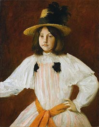 Portrait of Artist's Daughter, c.1895 by William Merritt Chase | Painting Reproduction