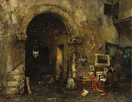 The Antiquary Shop, 1879 von William Merritt Chase | Gemälde-Reproduktion