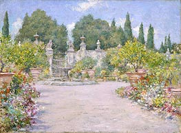 An Italian Garden, c.1909 von William Merritt Chase | Gemälde-Reproduktion