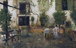 Courtyard in Venice, 1877 von William Merritt Chase | Gemälde-Reproduktion