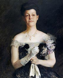 Portrait of Lavinia Borden Cook, c.1905 by William Merritt Chase   Painting Reproduction
