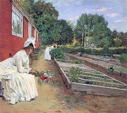 Die Gärtnerei, 1890 von William Merritt Chase | Gemälde-Reproduktion