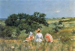 The Tale, 1892 by William Merritt Chase | Painting Reproduction