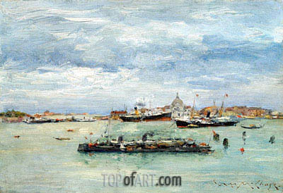 Gray Day on the Lagoon, c.1879 | William Merritt Chase | Gemälde Reproduktion