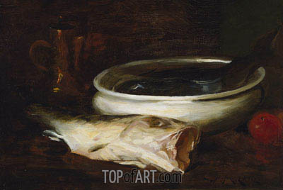 Fish and Still Life, c.1904/09 | William Merritt Chase | Painting Reproduction