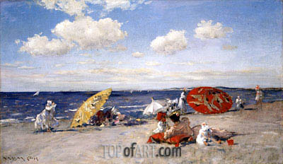 At the Seaside, c.1892 | William Merritt Chase| Painting Reproduction