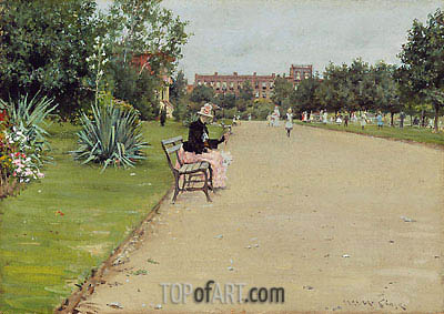 A City Park, c.1887 | William Merritt Chase | Gemälde Reproduktion