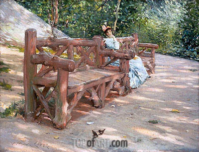 Park Bench, c.1890 | William Merritt Chase| Painting Reproduction