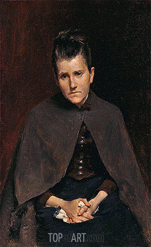 Well I Should Not Murmur, For God Judges Best (Mrs. David Hester Chase, The Artists Mother), c.1878 | William Merritt Chase | Gemälde Reproduktion
