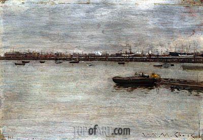 William Merritt Chase | East River, c.1870/85