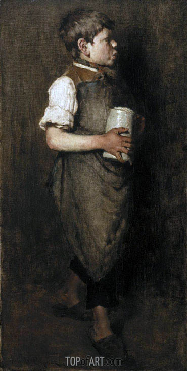 The Whistling Boy, 1875 | William Merritt Chase | Gemälde Reproduktion