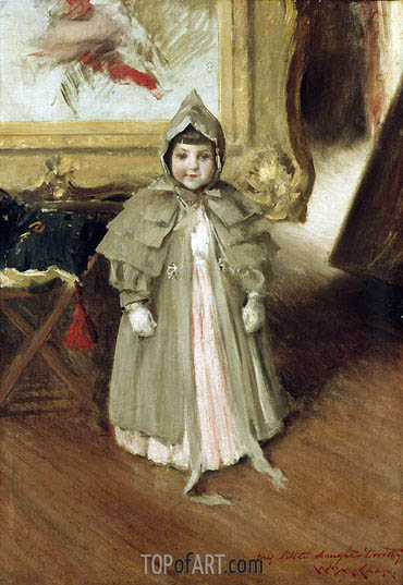 My Little Daughter Dorothy, c.1894 | William Merritt Chase | Gemälde Reproduktion