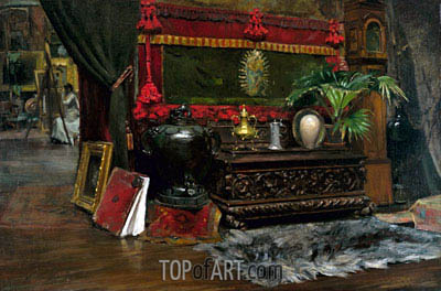 A Corner of My Studio, c.1895 | William Merritt Chase| Painting Reproduction