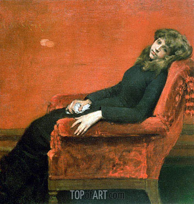 Study of a Young Girl, c.1888/90 | William Merritt Chase | Painting Reproduction