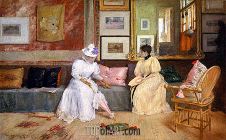 A Friendly Call, 1895 | William Merritt Chase | Painting Reproduction