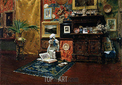 In the Studio, c.1882 | William Merritt Chase | Gemälde Reproduktion