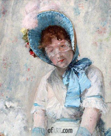 Harriet Hubbard Ayer, 1880 | William Merritt Chase | Gemälde Reproduktion