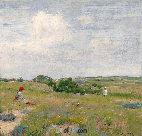 Shinnecock Hills, c.1895 | William Merritt Chase| Painting Reproduction