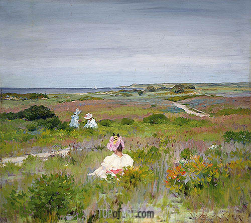 Landscape: Shinnecock, Long Island, c.1896 | William Merritt Chase | Gemälde Reproduktion
