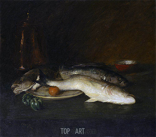 Still Life: Fish, 1908 | William Merritt Chase | Gemälde Reproduktion