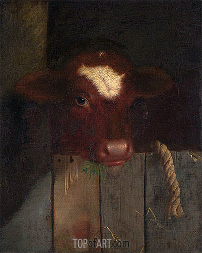 William Merritt Chase | The Family Cow, 1869
