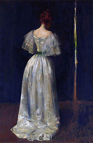 Seventeenth Century Lady, c.1895 | William Merritt Chase| Painting Reproduction