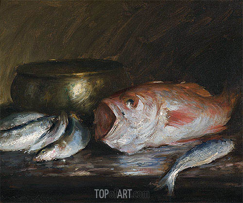 Red Snapper, undated | William Merritt Chase| Painting Reproduction
