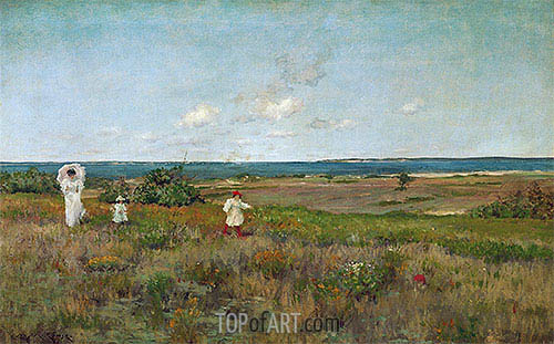 William Merritt Chase | Near the Beach, Shinnecock, c.1895
