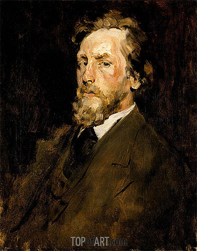 William Merritt Chase | Portrait of Eilif Peterssen, c.1875