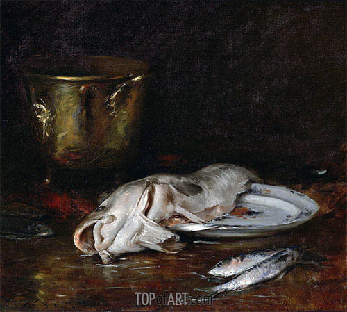 An English Cod, 1904 | William Merritt Chase| Painting Reproduction