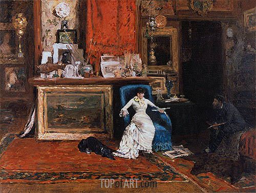 The Tenth Street Studio, 1880 | William Merritt Chase | Painting Reproduction