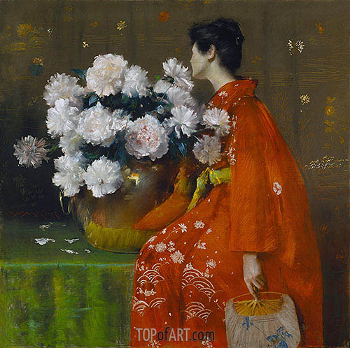 Spring Flowers (Peonies), 1889 | William Merritt Chase| Painting Reproduction