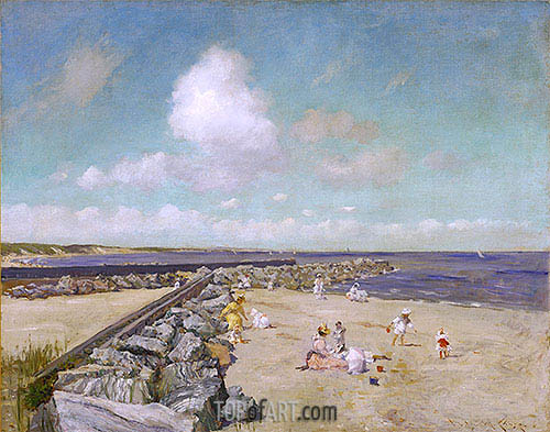 Morning at Breakwater, Shinnecock, c.1897 | William Merritt Chase | Painting Reproduction