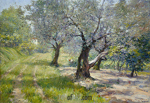 William Merritt Chase | The Olive Grove, c.1910