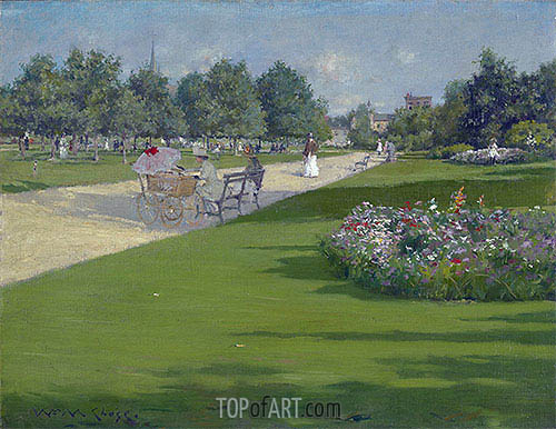 Tompkins Park, Brooklyn, 1887 | William Merritt Chase | Painting Reproduction