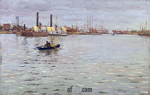 William Merritt Chase | The East River, c.1886