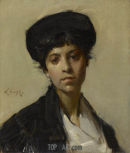 Portrait of a Woman, c.1912 | William Merritt Chase | Gemälde Reproduktion
