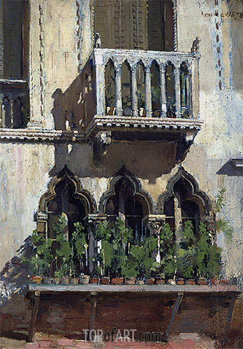 Venice Facade, 1878 | William Merritt Chase| Painting Reproduction