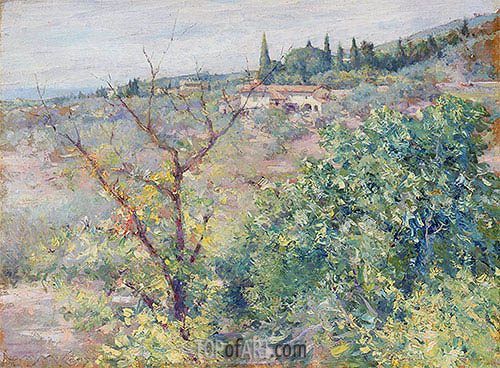 William Merritt Chase | View of Fiesole, 1907