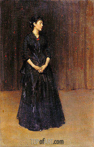 Woman in Black, c.1890 | William Merritt Chase| Painting Reproduction
